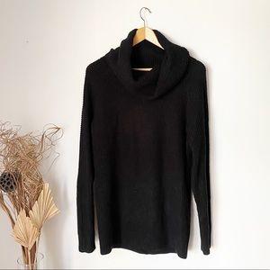 Twik   Black Knit Cowl Sweater   Medium